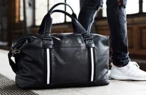 Reisetasche Leder Schwarz